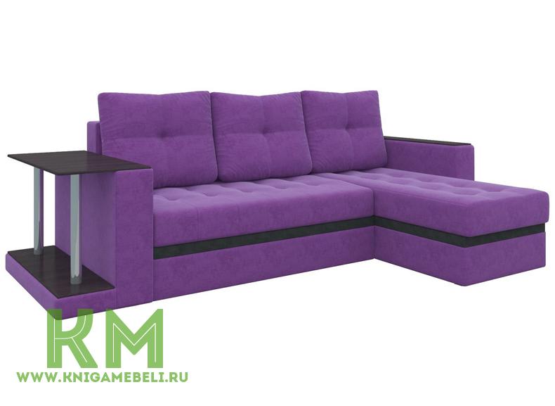 Диван Атланта М Фиолетовый микровельвет