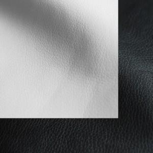 Экокожа бело-черный
