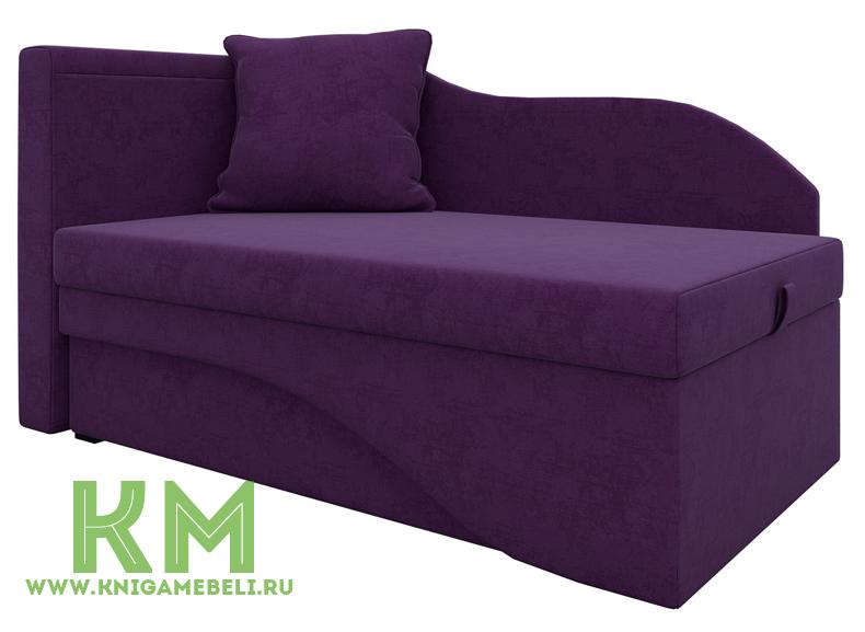 Кушетка Грация-К Фиолетовый микровельвет
